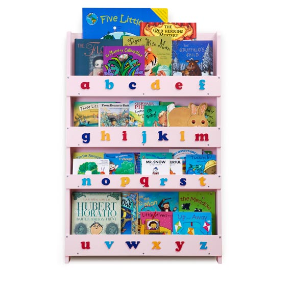 The Tidy Books Childrens Bookcase in Pink