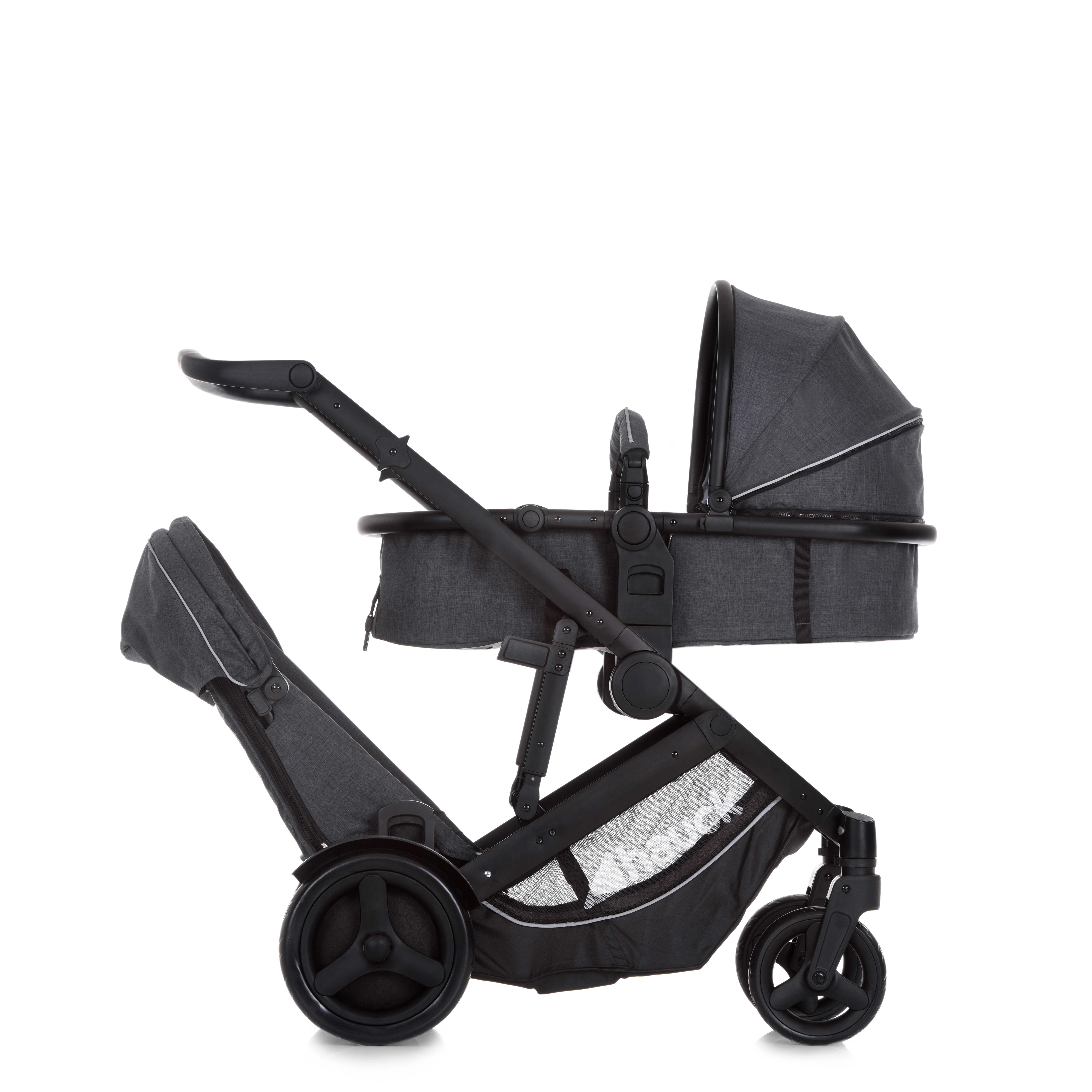 Duett-3_Melange-Charcoal Seat and Carry cott image