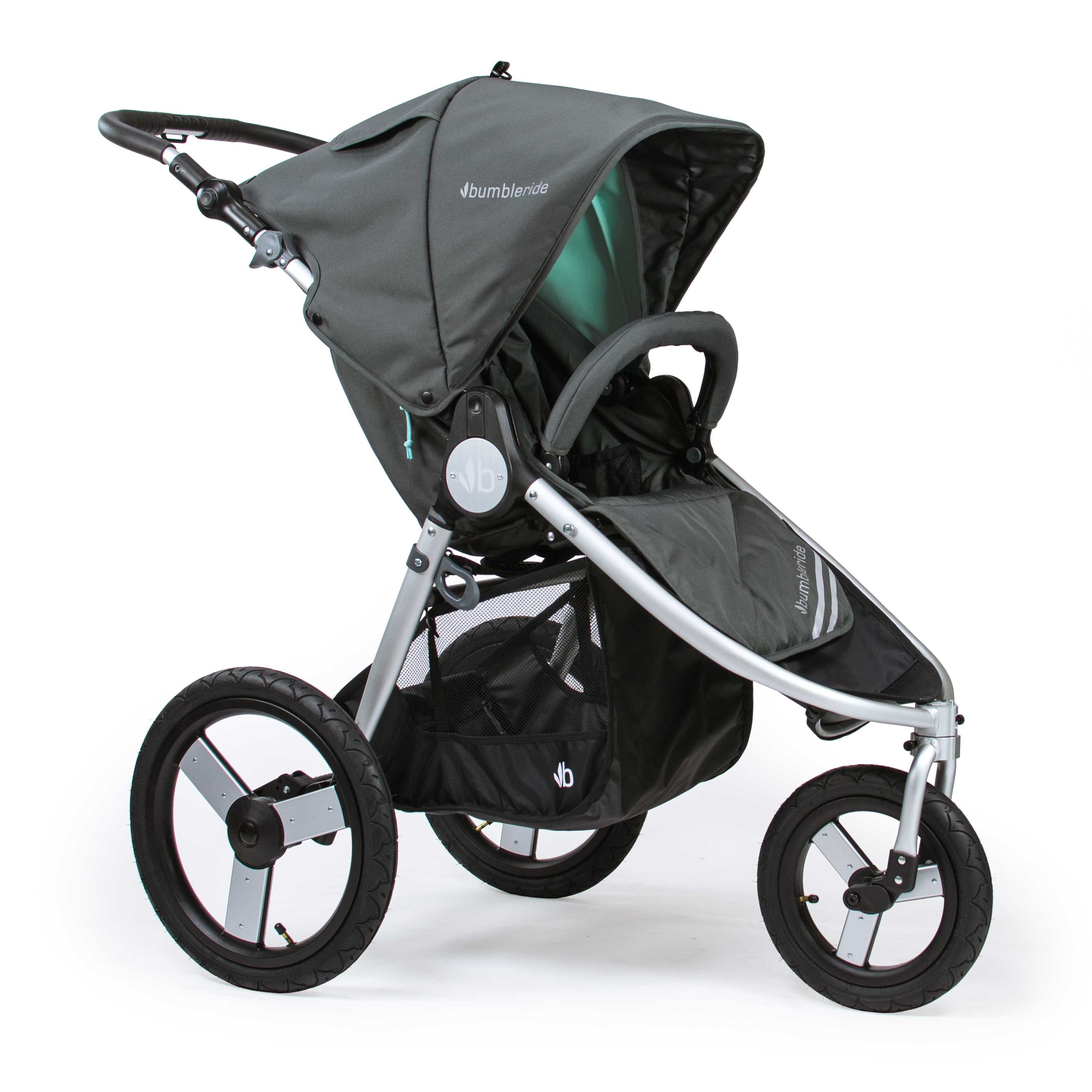 Bumbleride Speed Dawn Grey Mint Front View
